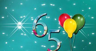 Пожелания с юбилеем 65 лет (22 фото)
