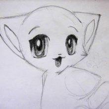 Картинки аниме кошки для срисовки (20 фото)