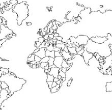 Рисунки карандашом карта мира (7 фото)