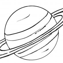 Рисунки карандашом планеты (18 фото)