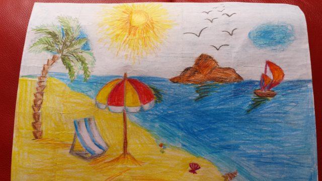 Рисование для детей на тему: Лето