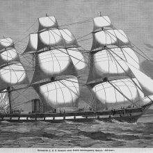 Рисунки парусника в море карандашом (58 фото)