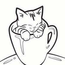 Картинки для срисовки в ЛД котики (28 фото)