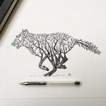 Интересные рисунки для срисовки в скетчбук (28 фото)