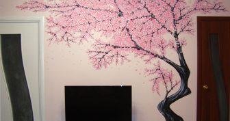 Простые рисунки деревьев на стену для срисовки (27 фото)