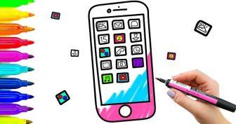 Рисунки карандашом телефон (14 фото)