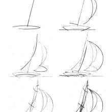 Рисунки для срисовки корабли (30 фото)