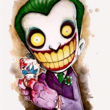 Рисунки для срисовки Джокера (21 фото)