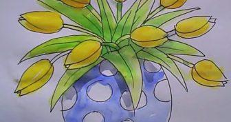 Картинки цветов для срисовки акварелью (25 фото)