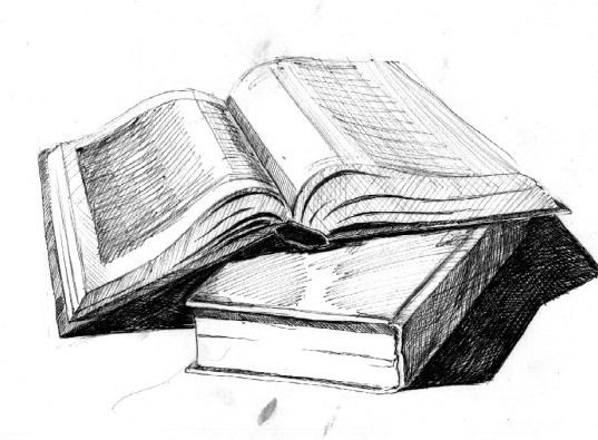 Рисунки книги в развернутом виде карандашом (15 фото) 🔥 Прикольные картинки и юмор