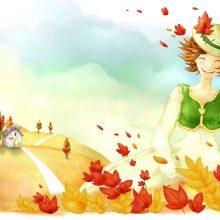 Рисунки на тему осень карандашом (27 фото)