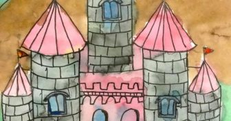 Картинки замков для срисовки (24 фото)