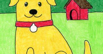Рисунки собак карандашом для детей (27 фото)