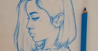 Красивые картинки девочек для срисовки карандашом (38 фото)