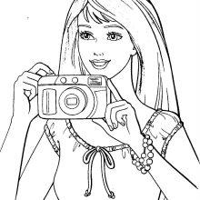 Картинки Барби для срисовки (19 фото)