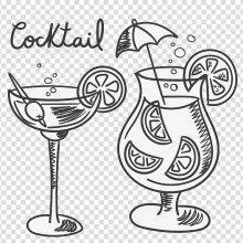 Картинки для срисовки милые коктейли (15 фото)