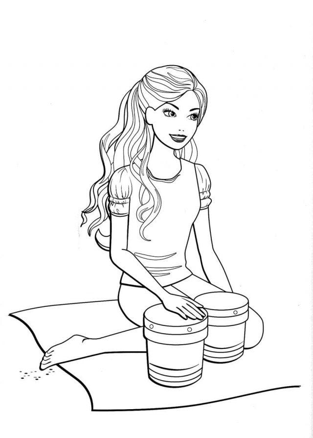 Картинки Барби для срисовки (19 фото) 🔥 Прикольные ...