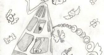 Странные рисунки карандашом (27 фото)
