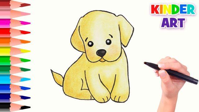 Рисунки карандашом поэтапно щенка (17 фото) 🔥 Прикольные ...