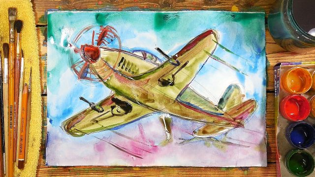 Рисунки самолета карандашом для детей (31 фото ...