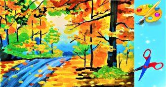 Картинки осени для срисовки (29 фото)