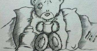 Рисунки карандашом мишка Тедди (28 фото)