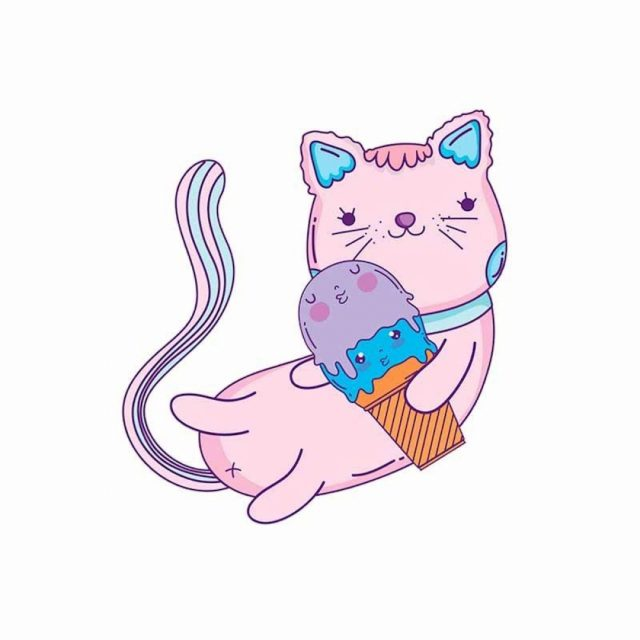 Няшные картинки котиков для срисовки (33 фото ...
