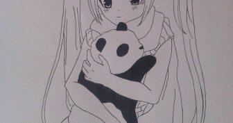 Легкие рисунки аниме карандашом для начинающих (31 фото)