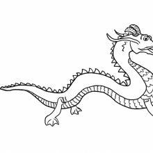 Картинки китайского дракона для срисовки (26 фото)