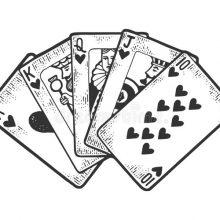 Рисунки карандашом на бумаге карты покер (17 фото)
