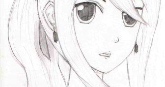 Рисунки для срисовки кавайные девочки (26 фото)