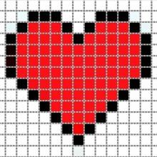 Рисунки для срисовки сердечки (30 фото)