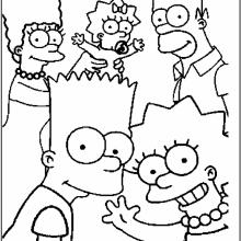 Рисунки для срисовки Симпсоны (28 фото)