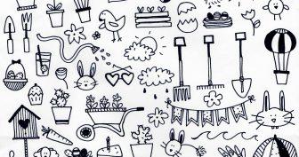 Маленькие кавайные рисунки для срисовки (31 фото)