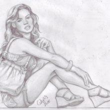 Рисунки карандашом женское тело (26 фото)
