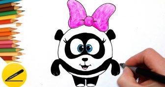 Рисунки для срисовки панда (32 фото)