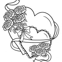 Рисунки карандашом два сердца (26 фото)