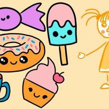 Милые рисунки еды для срисовки (30 фото)