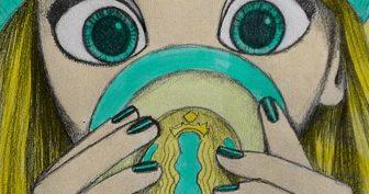 Рисунки для личного дневника для срисовки девочки (31 фото)