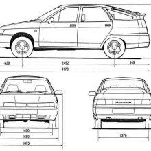 Рисунки карандашом БПАН ВАЗ 2112 (15 фото)