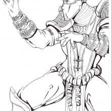 Рисунок Скорпиона из Мортал Комбат карандашом (20 фото)