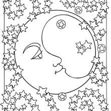 Рисунки карандашом для детей Луна (27 фото)