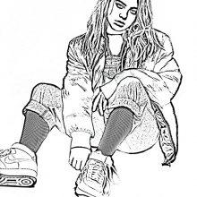 Рисунки Билли Айлиш простым карандашом (28 фото)