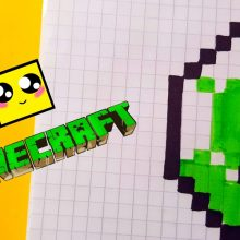 Рисунки Майнкрафт по клеточкам карандашом (29 фото)