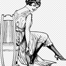 Рисунки карандашом сидящая девушка (21 фото)