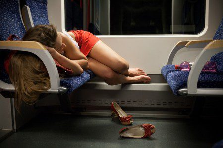 Girl-Sleeping-Night-Train