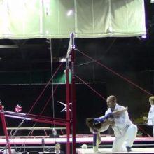 Тренер несколько раз спас гимнастку от серьёзных падений