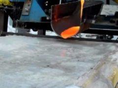 Что произойдёт, если вылить раскалённую лаву на лед?