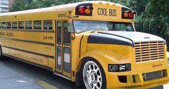 Самые крутые школьные автобусы в мире! 17 фото
