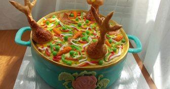 Прикольные торты на день рождения. (12 фото)